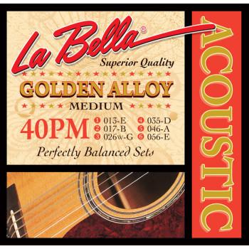 La Bella 40PM Комплект струн для акустической гитары 13-56