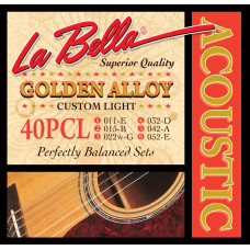 La Bella 40PCL Комплект струн для акустической гитары 11-52
