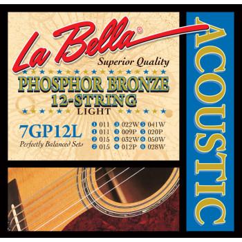 La Bella 7GP12L Комплект струн для акустической 12-струнной гитары 11-50