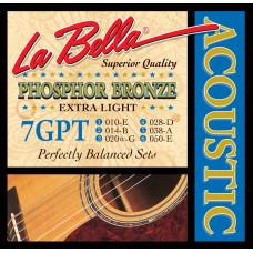 La Bella 7GPT Комплект струн для акустической гитары 10-50