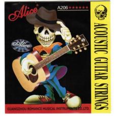 Alice A206-SL Super Light Комплект струн для акустической гитары фосфорная бронза 11-52 [20]