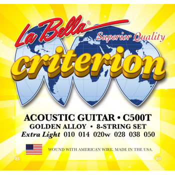 La Bella C500T Criterion Комплект струн для акустической гитары 010-050
