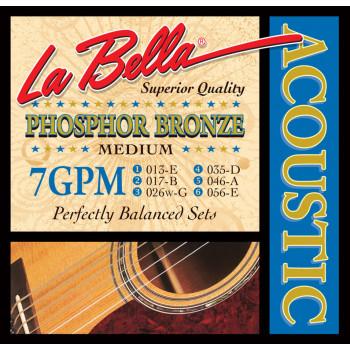 La Bella 7GPM Комплект струн для акустической гитары 13-56