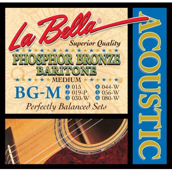 La Bella BG-M Комплект струн для гитары Баритон 15-80