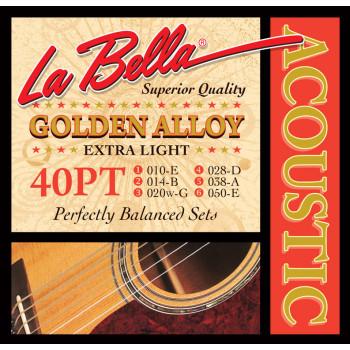 La Bella 40PT Комплект струн для акустической гитары 10-50